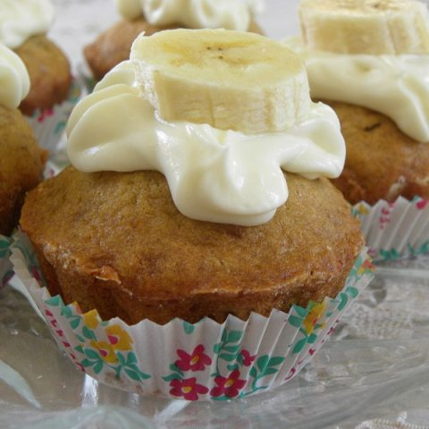 Masticha Banana Cupcakes with Masticha Cream Cheese frosting