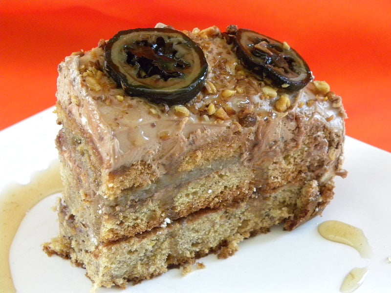 Walnut Praline Banana cake image