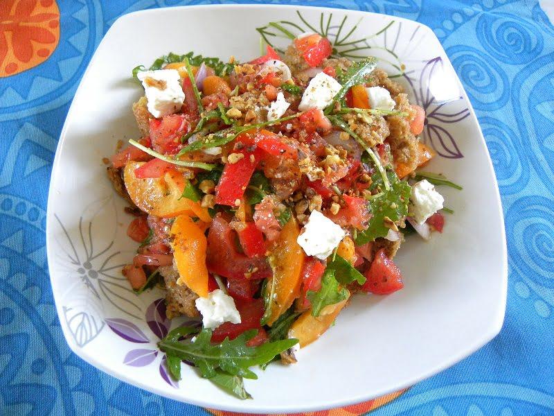 Apricot dakos salad image