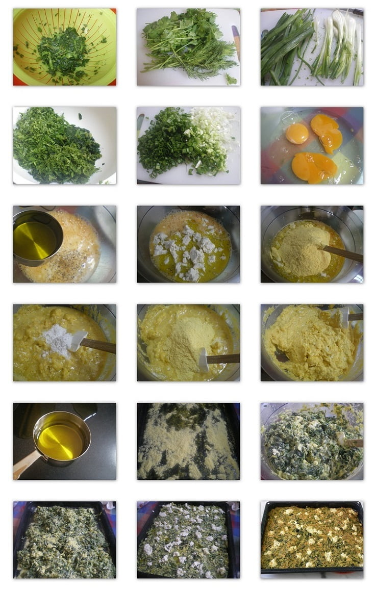 collage Plasto Spanakopita without phyllo picture