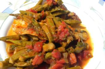 Mpamies okra with Pollock fillets image