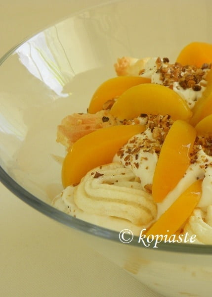 Peach Pavlova with Yoghurt and Honey