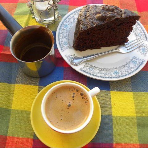 Chocolate and Petimezi Cake image
