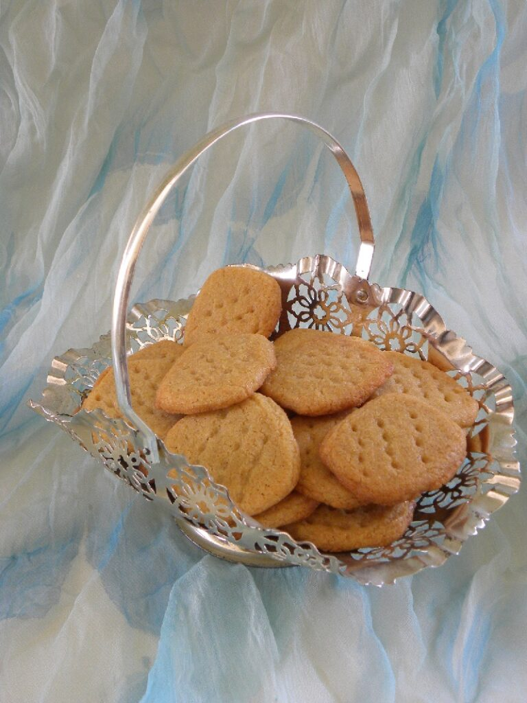 Peanut Butter Cookies in a silver bowl image