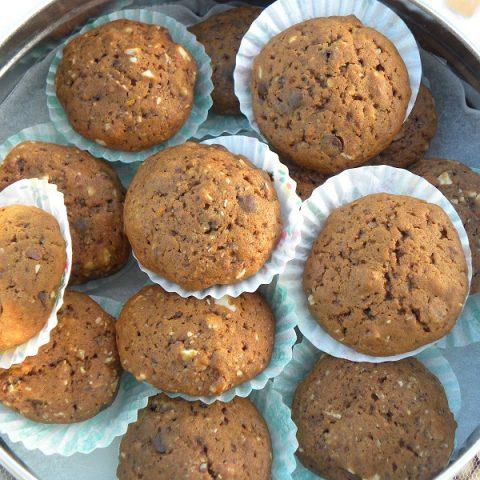 Soft Petimezi, Dark Chocolate Chips, Almonds and Orange Cookies.image