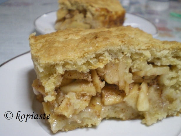 A piece of apple pie