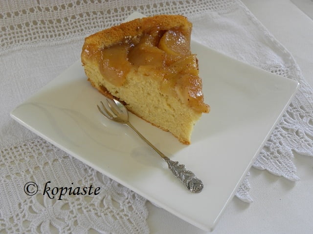 Apple caramel cream cheese upside down cake