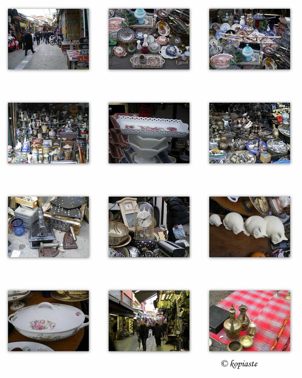 Collage Monastiraki flea market