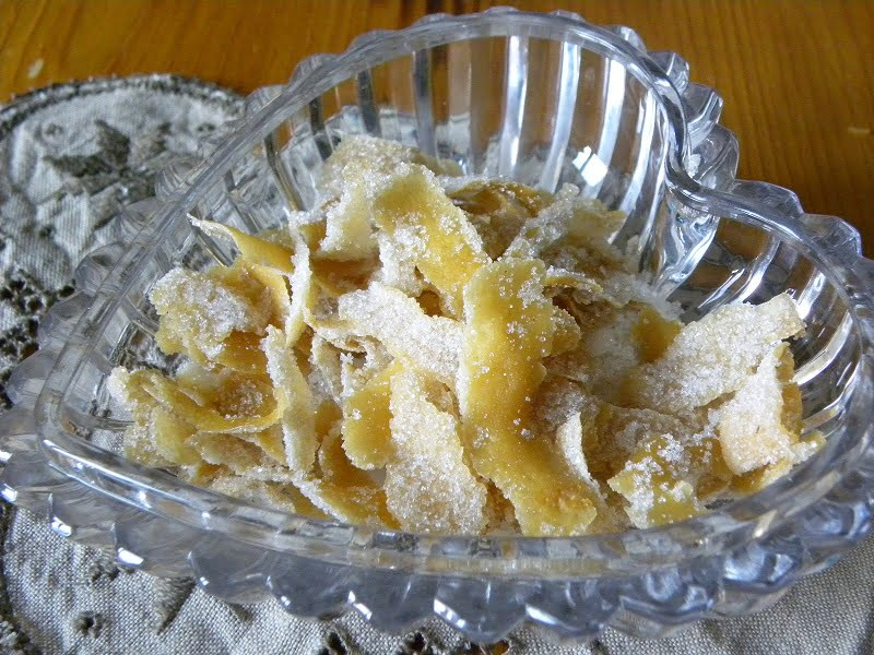 Candied lemon peels image