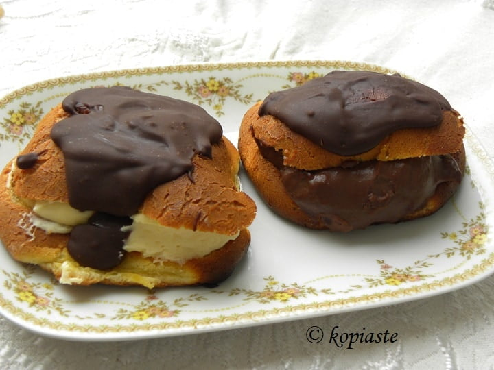 Eclairs with lemon filling image
