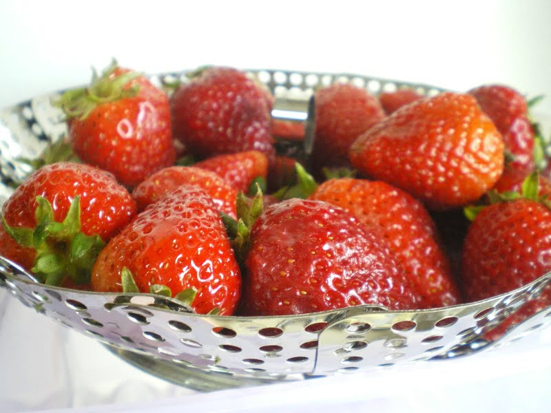 Fresh strawberries image