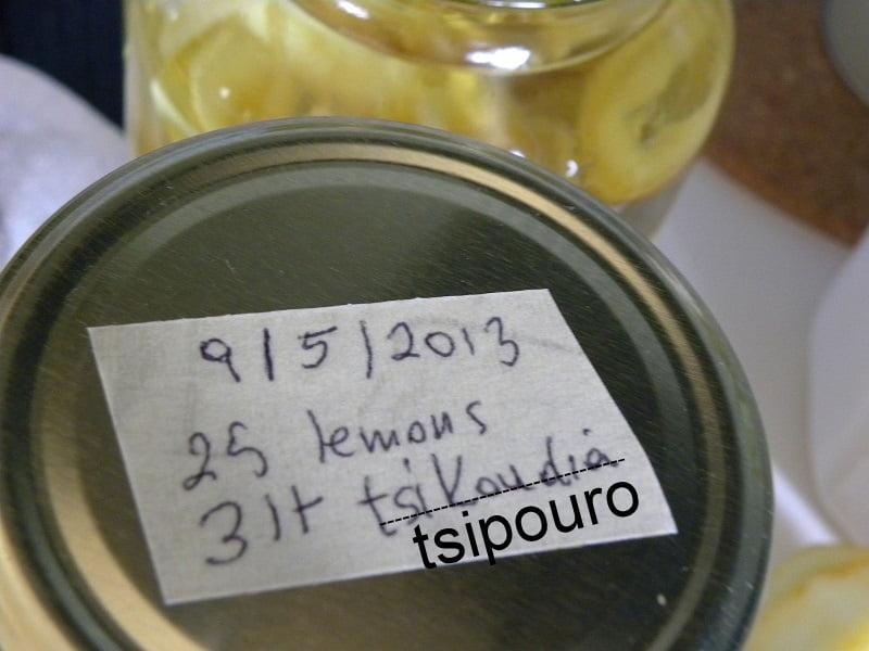 Labelling jar with lemon peels image