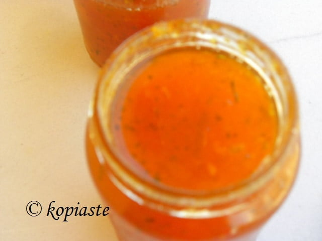 Peach and Apricot Jam