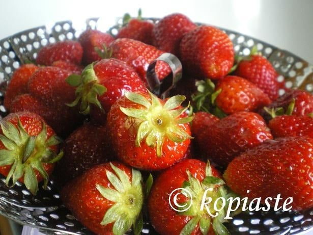Strawberries in bowl image