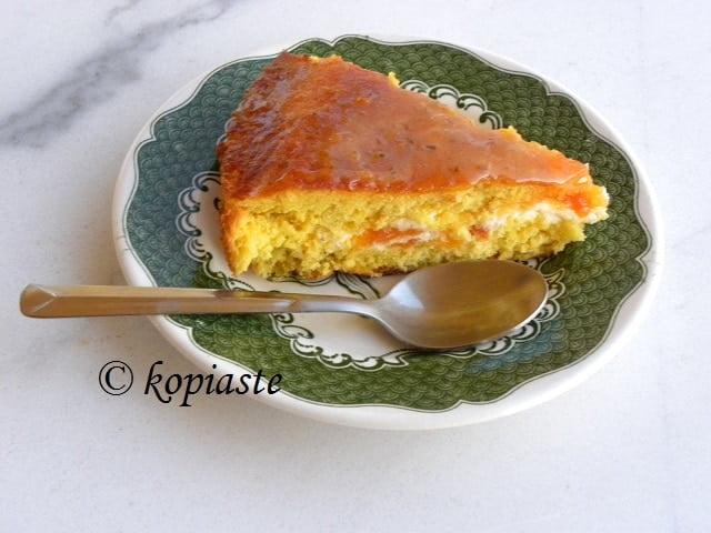 Peach and apricot cream cheese cake