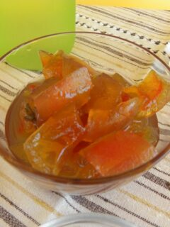 Mini watermelon preserve glyko karpouzi picture