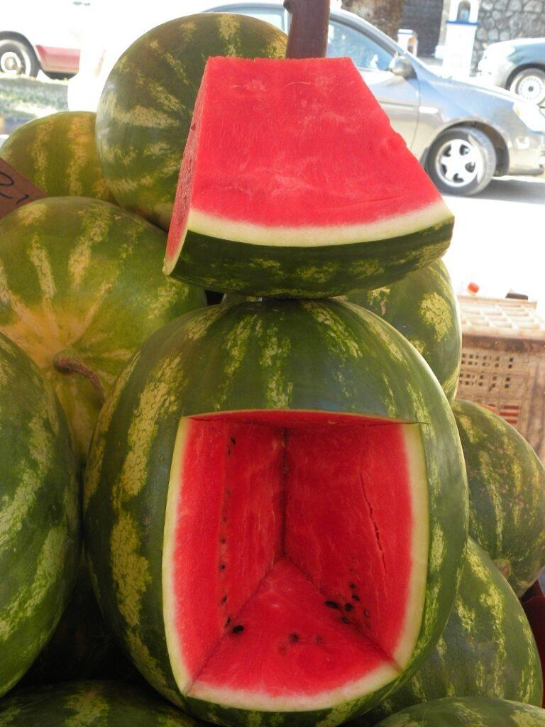 Watermelon karpouzi cut image