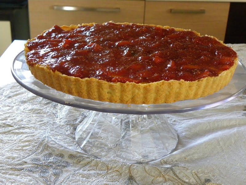 Anthotyros tart with fig image