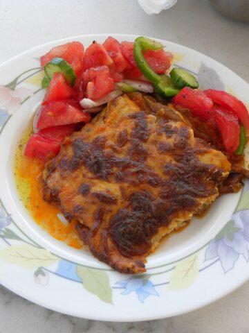 Vegetarian Moussakas with Feta and Mozzarella
