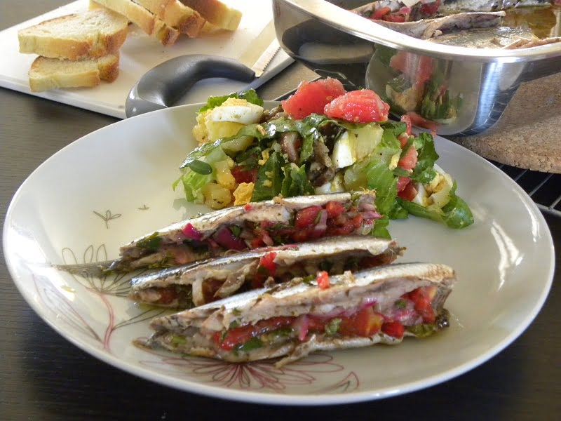 Stuffed baked anchovies image