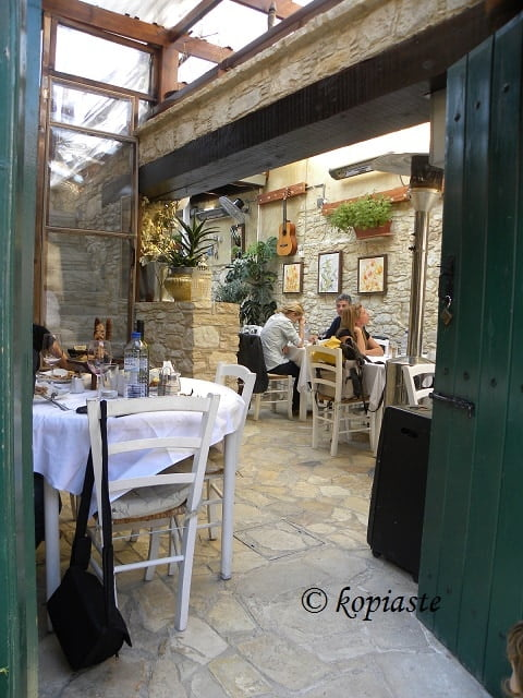 Restaurant at Omodos
