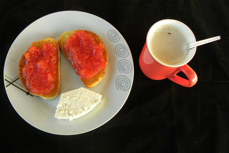 Breakfast with quince and anthotyros image