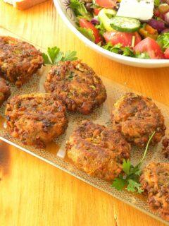 Greek veggie burgers image
