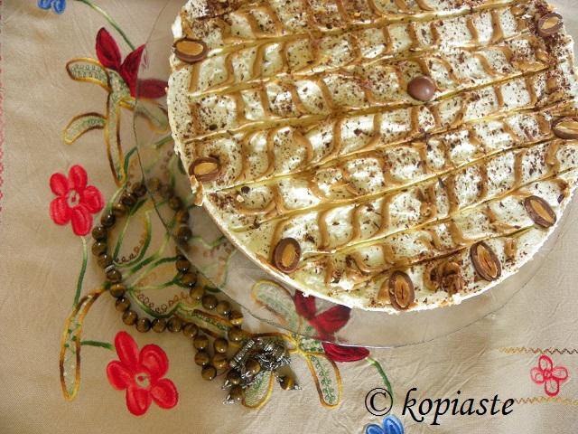 Dulce de Leche and Almond Chocolate Cheesecake