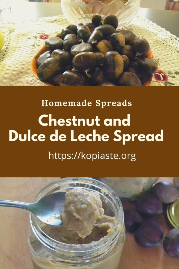 collage chestnut and dulce de leche spread image
