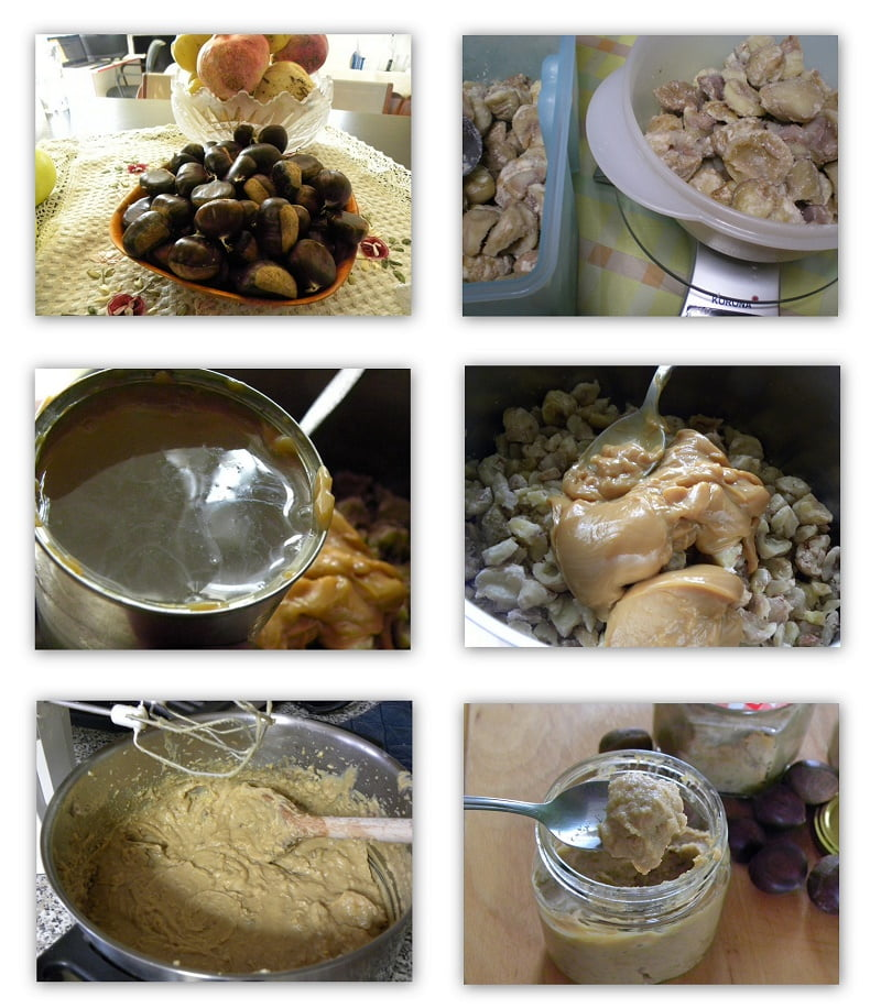 collage making chestnut puree image