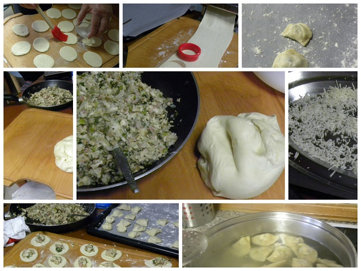 Collage making ravioli