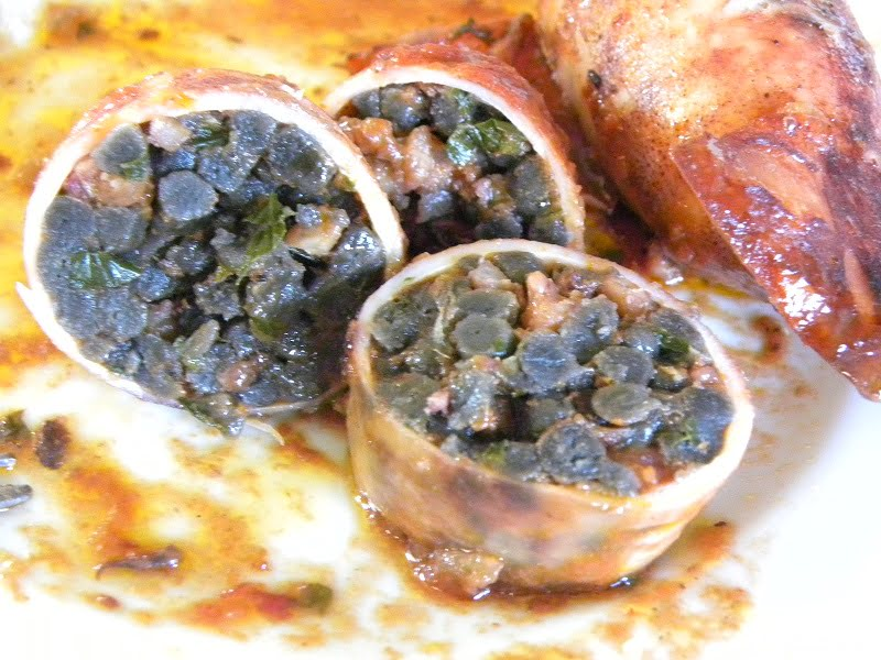 Thrapsala illex stuffed with black couscous image