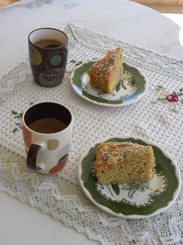 Vegan Butternut Squash Cake with Greek coffee image