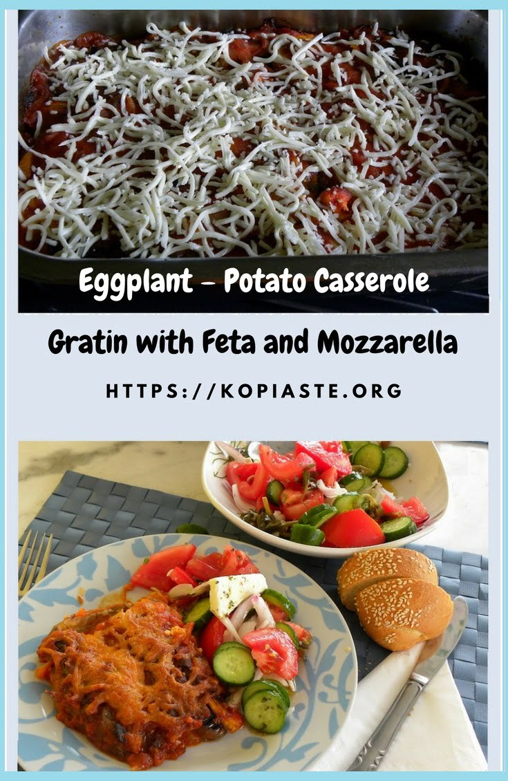 Eggplant – Potato Casserole Gratin with Feta and Mozzarella image
