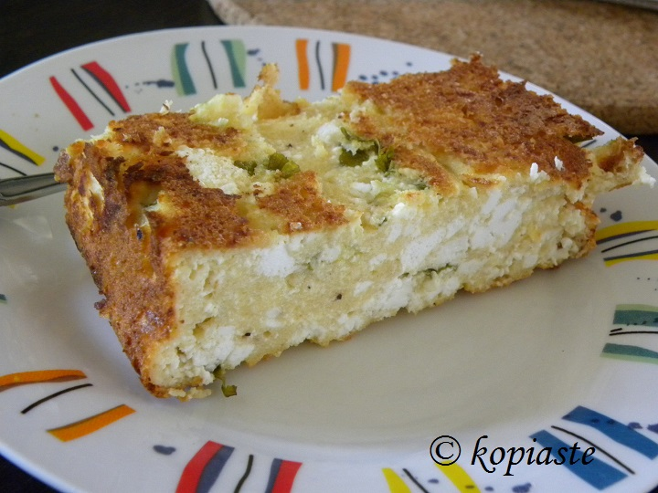 Cheese and bread Cake