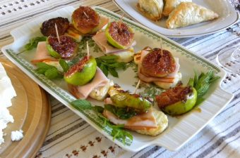 Fig and halloumi with mint appetizer image