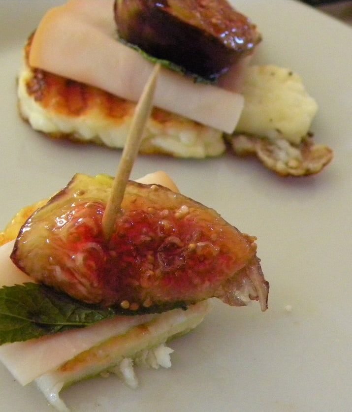 Two fig and halloumi appetizer image