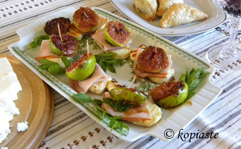 fig and halloumi appetizer image