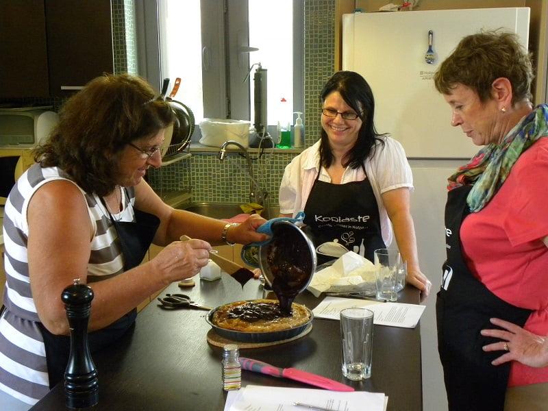 Making baklavas tart in a cooking class image