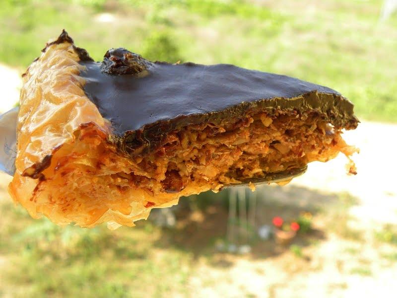 upside down baklavas tart image