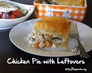 Chicken Pie with Leftovers