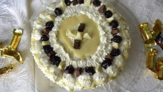 Toblerone Cake with Cream Cheese and White Chocolate