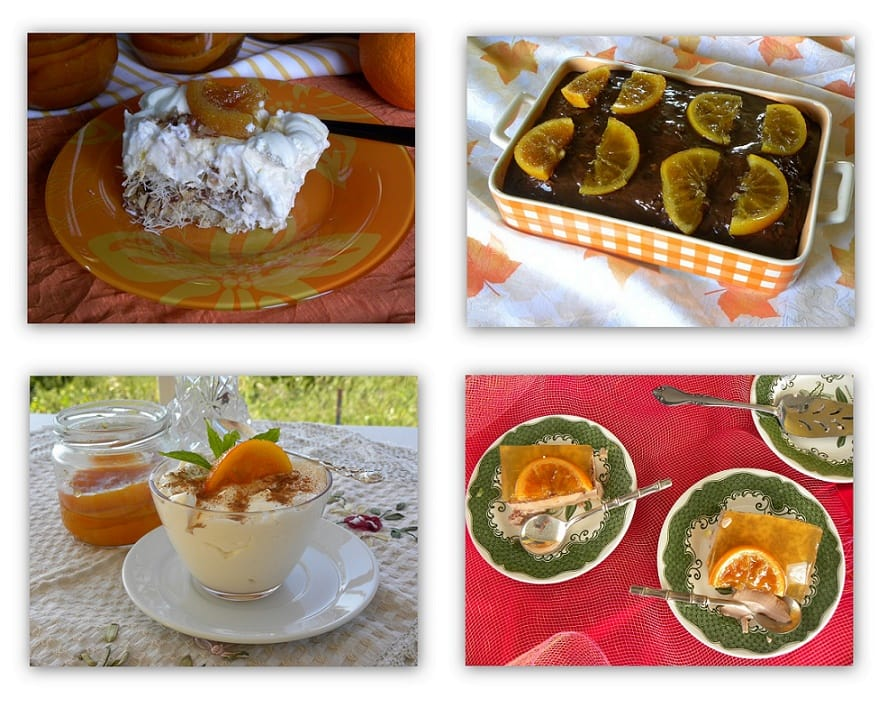 Collage Orange preserve used in Desserts