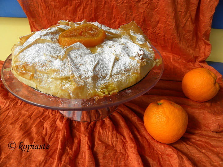 Portokalopita (Orange Pie with Phyllo)