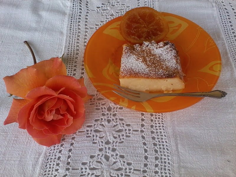 Galatopita with rose and orange image
