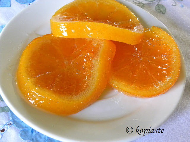 Glyko Portokali (Whole Orange Fruit Preserve in Slices) and Orange Cake
