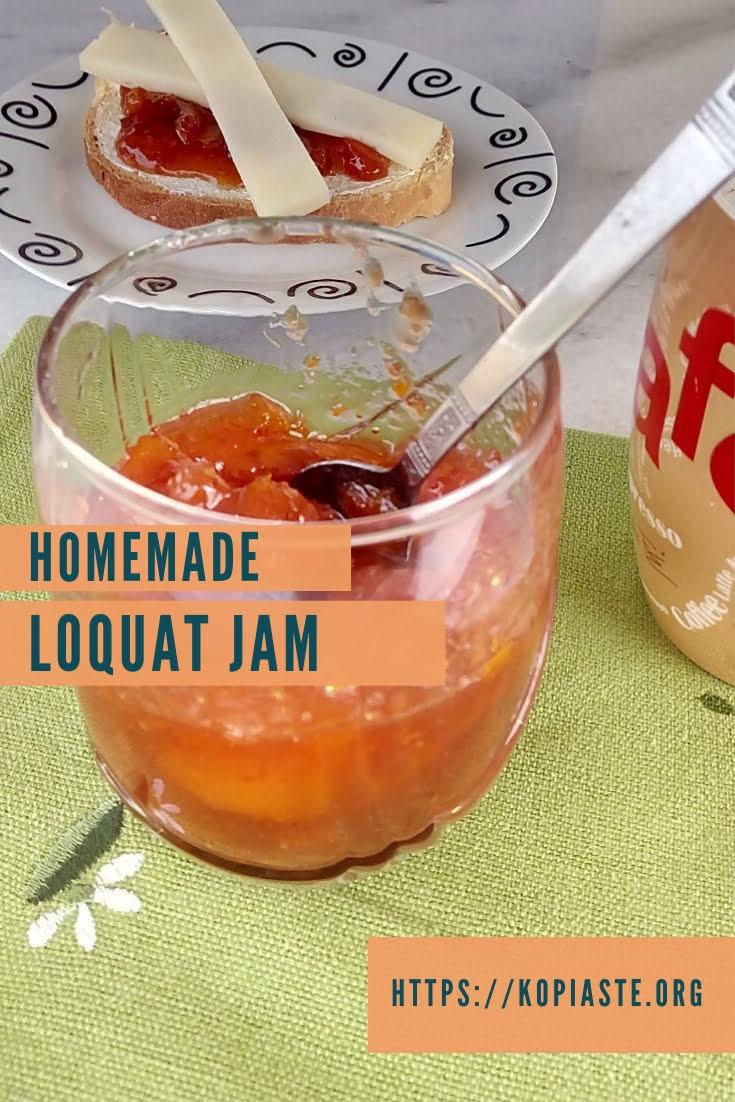 Homemade loquat jam image