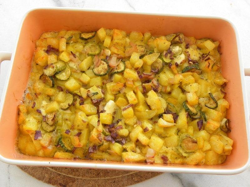 Potato and Zucchini Frittata image