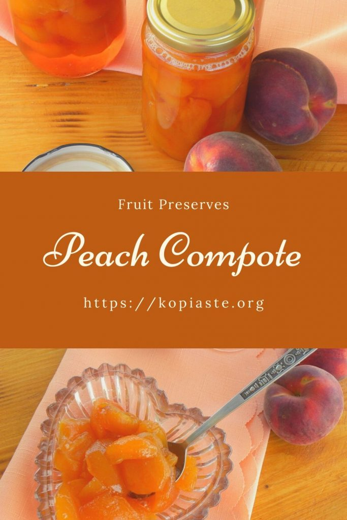 Collage Peach compote image