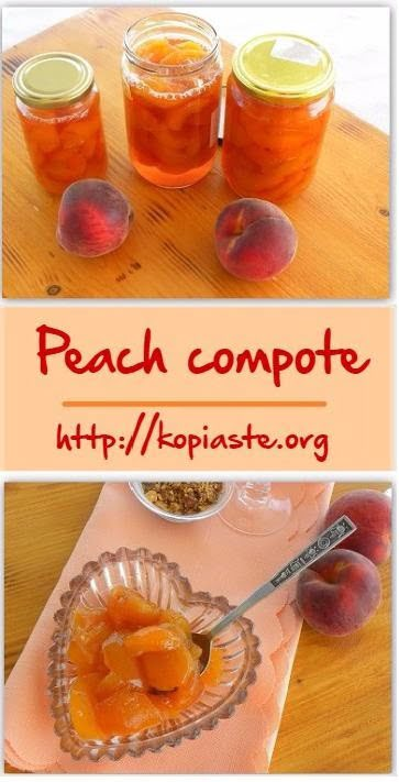 Collage Peach compote